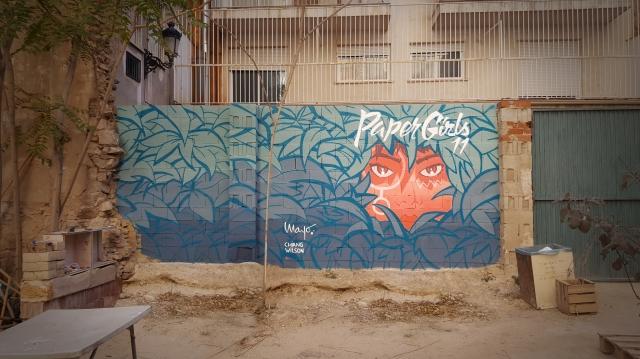 Paper Girls mural